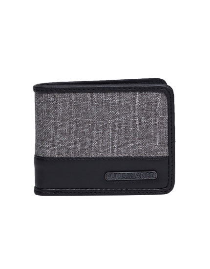Two-toned grey wallet