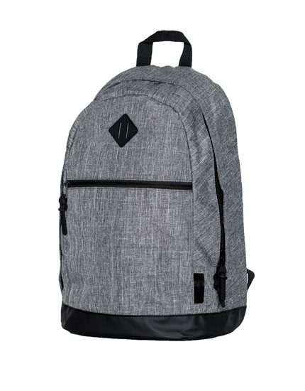 Diagonal pocket backpack