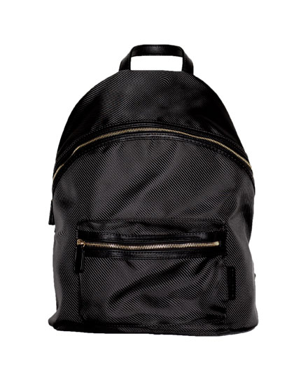 Black and gold backpack