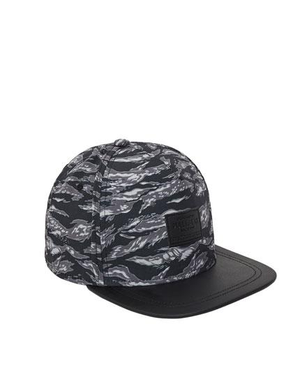 Grey camouflage cap