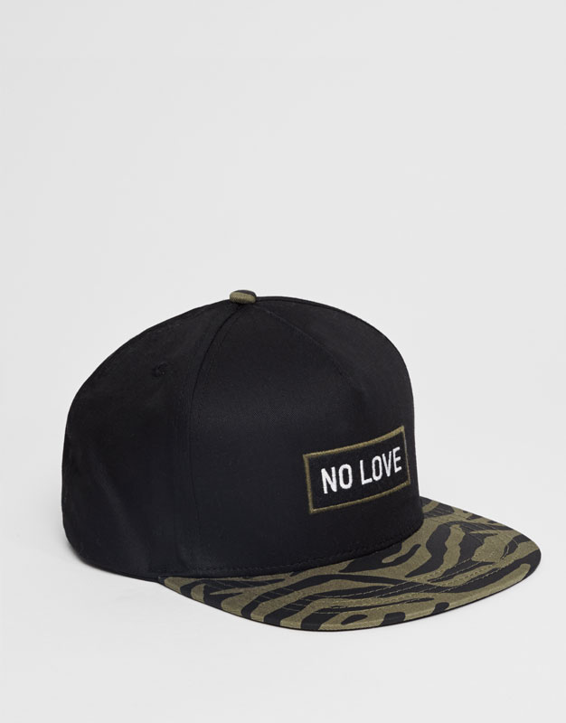 Cap with label - no love