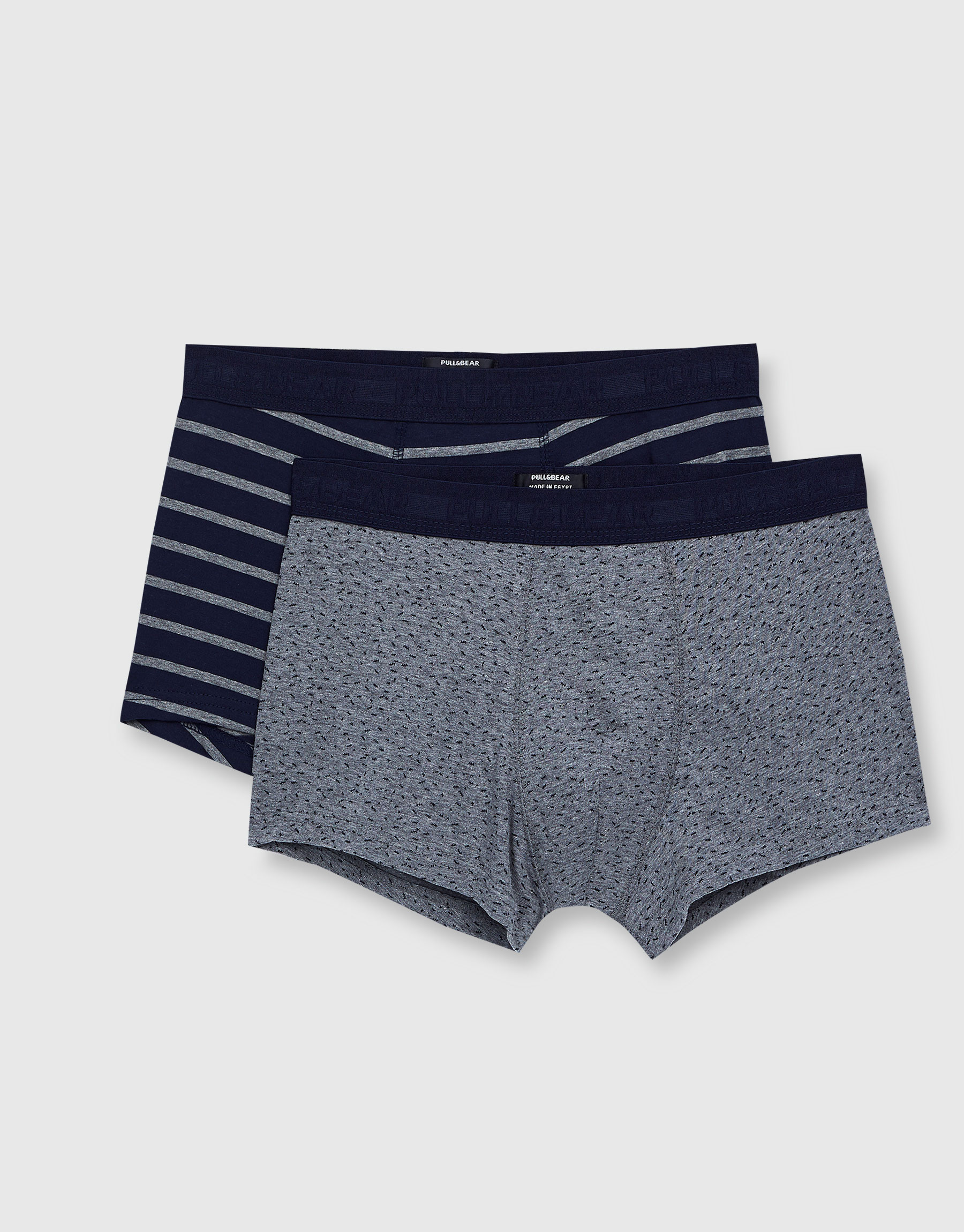2-Pack of striped and polka dot boxers