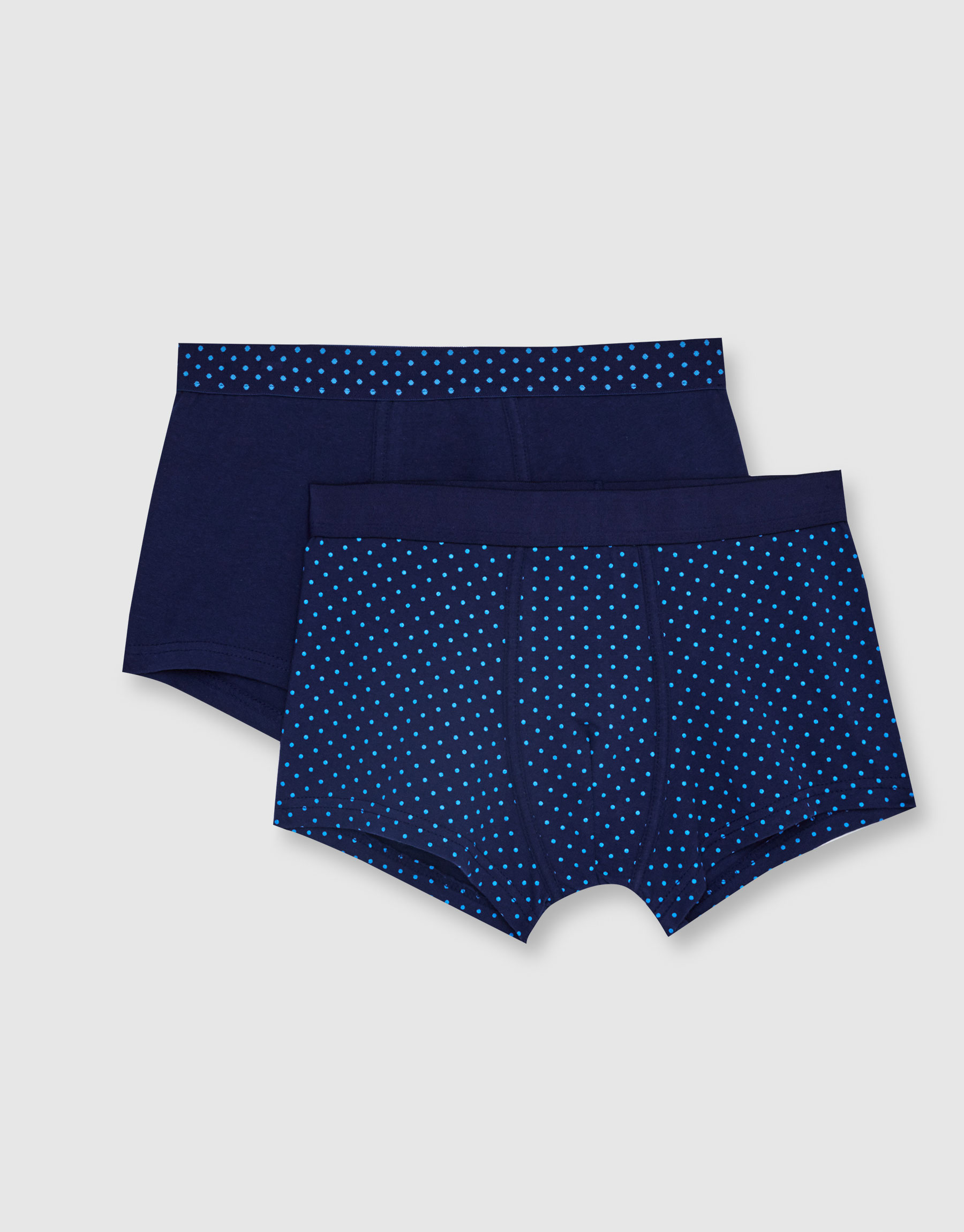 Boxer shorts with polka dot waistband (Pack of 2)
