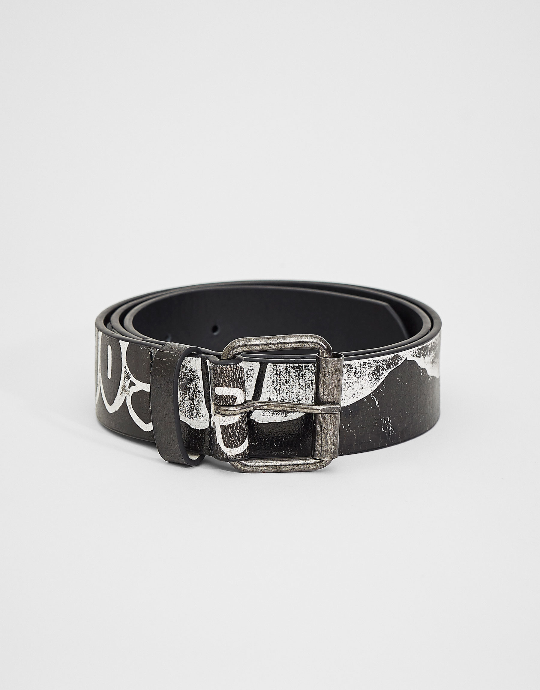 'Ever young' printed belt