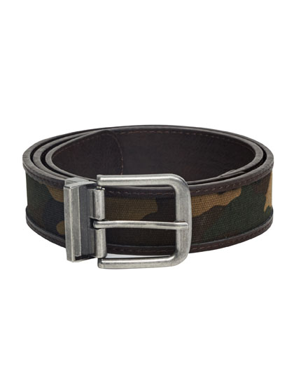 Double sided camouflage belt