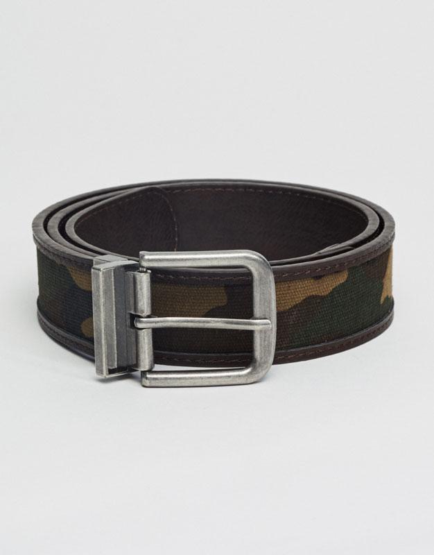 Double sided camouflage belt