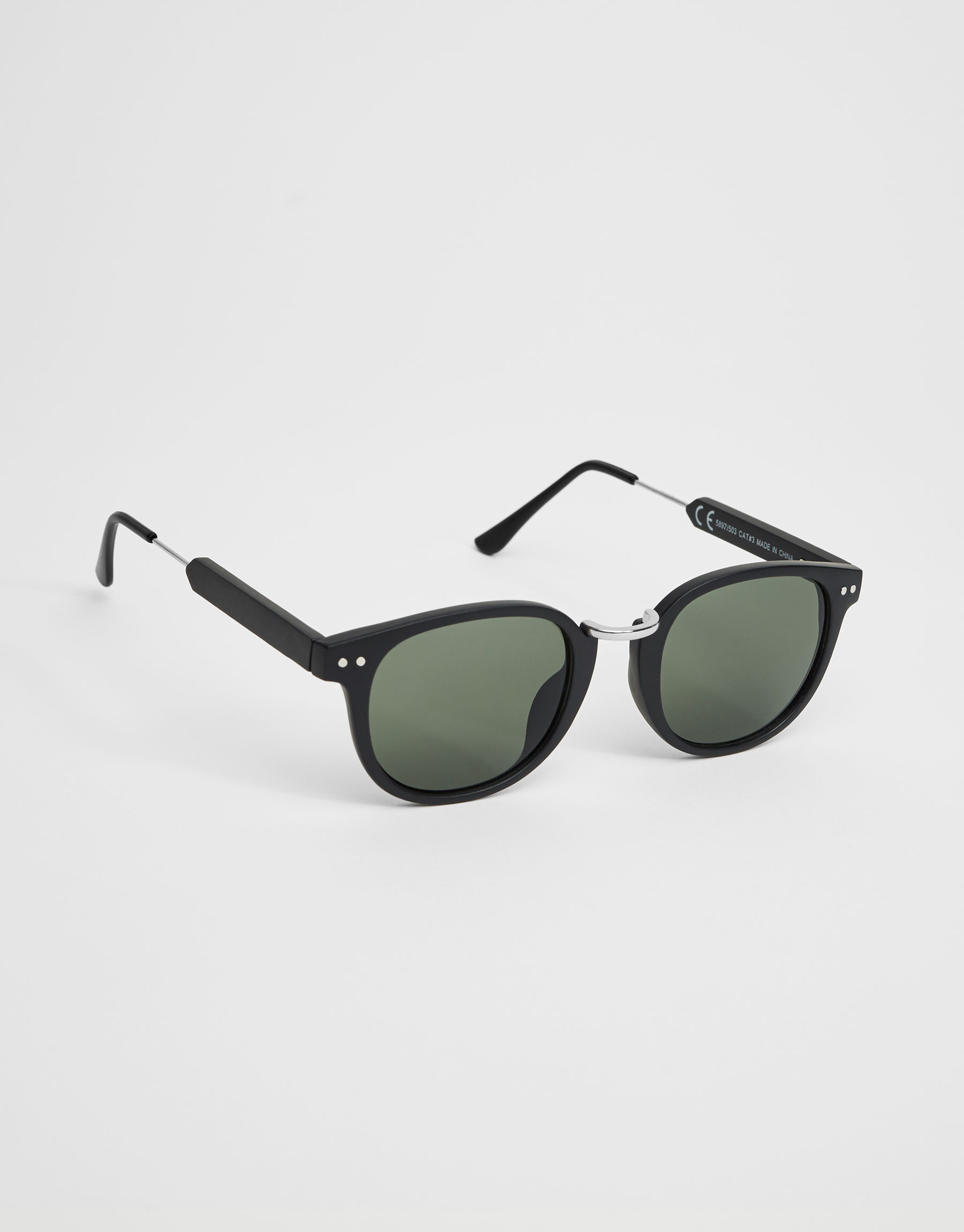 Metallic bridge sunglasses