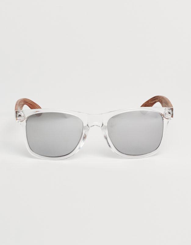 Clear-framed sunglasses