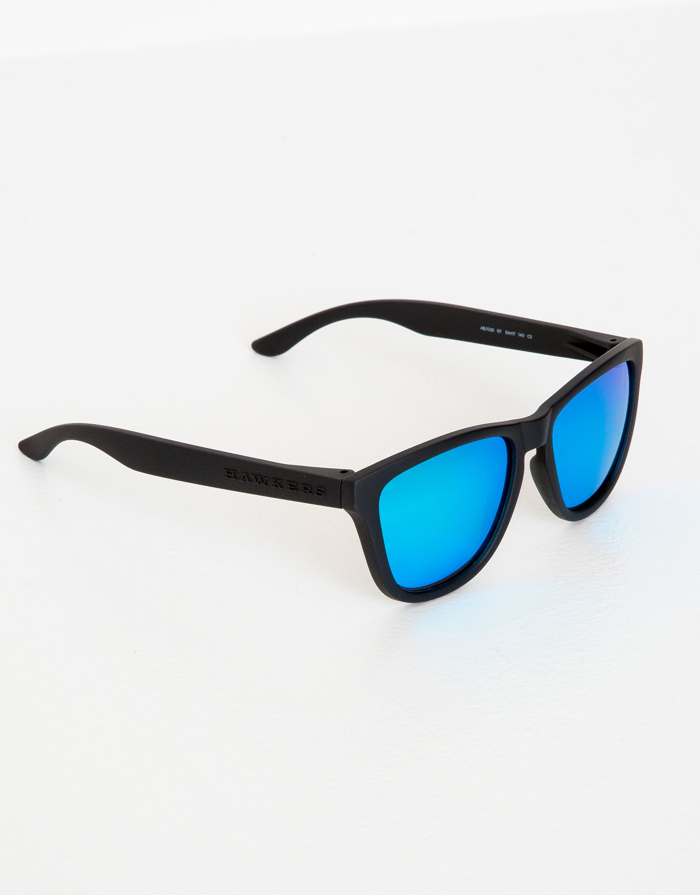 Hawkers carbon black clear blue one sunglasses