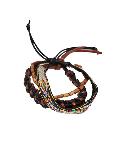 Pack of colourful bracelets