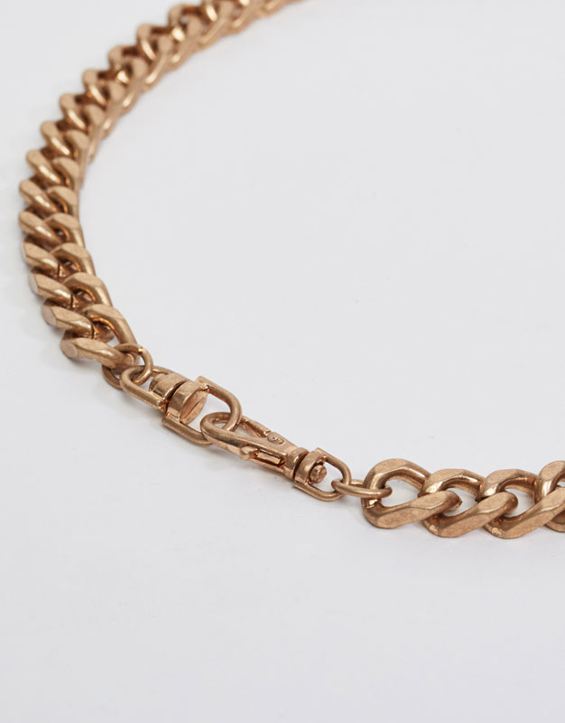 Gold-toned chain necklace