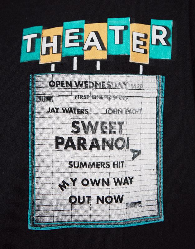 Shirt mit Print und Tasche