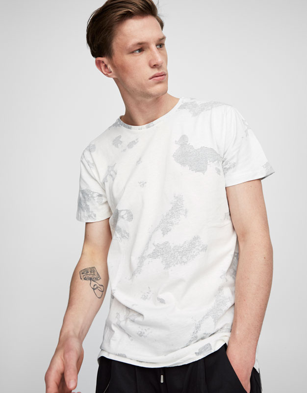 Speckled design T-shirt