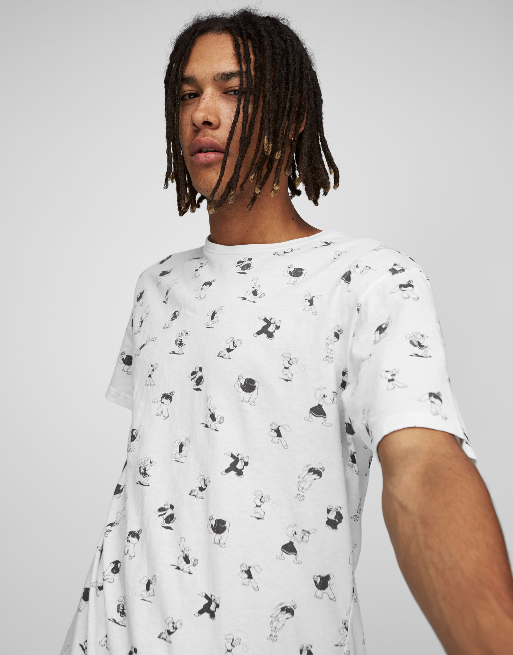 Popeye pattern T-shirt