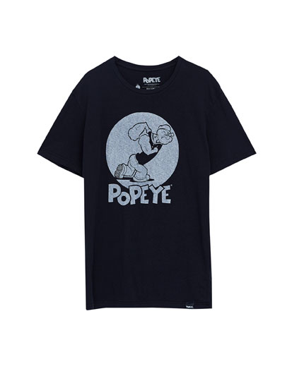 Front Popeye graphic T-shirt