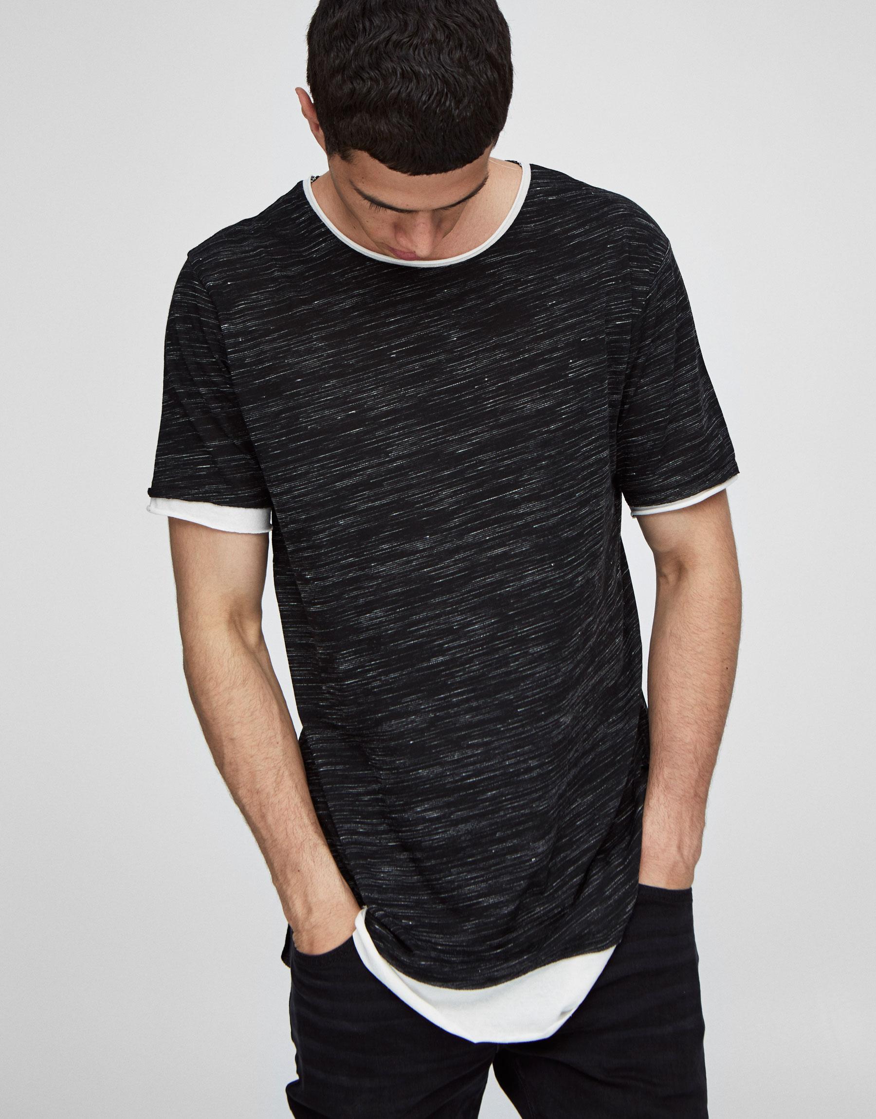 Double hem T-shirt