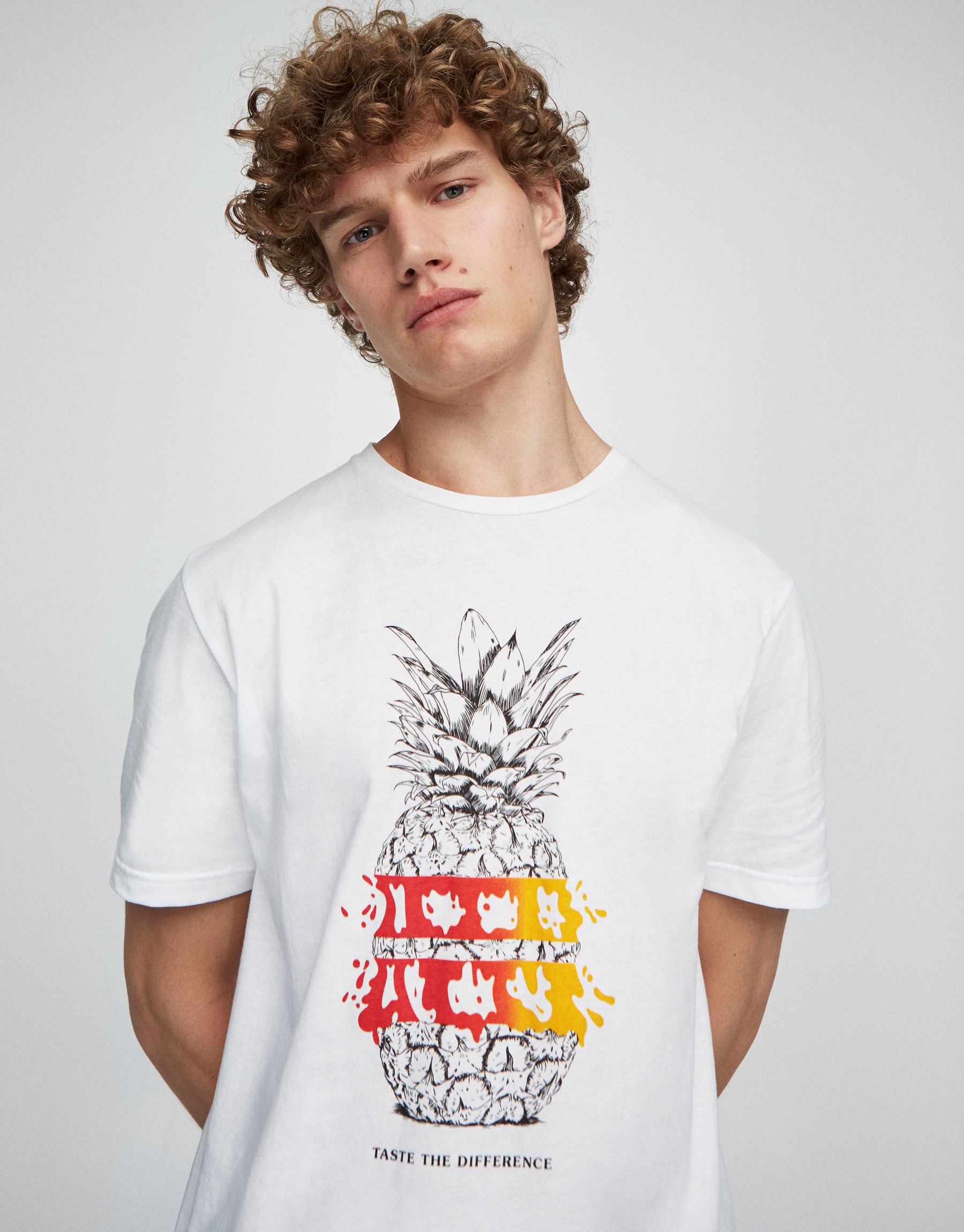 T-shirt with printed front