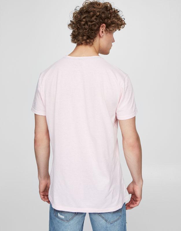 T-shirt pastel imprimé devant