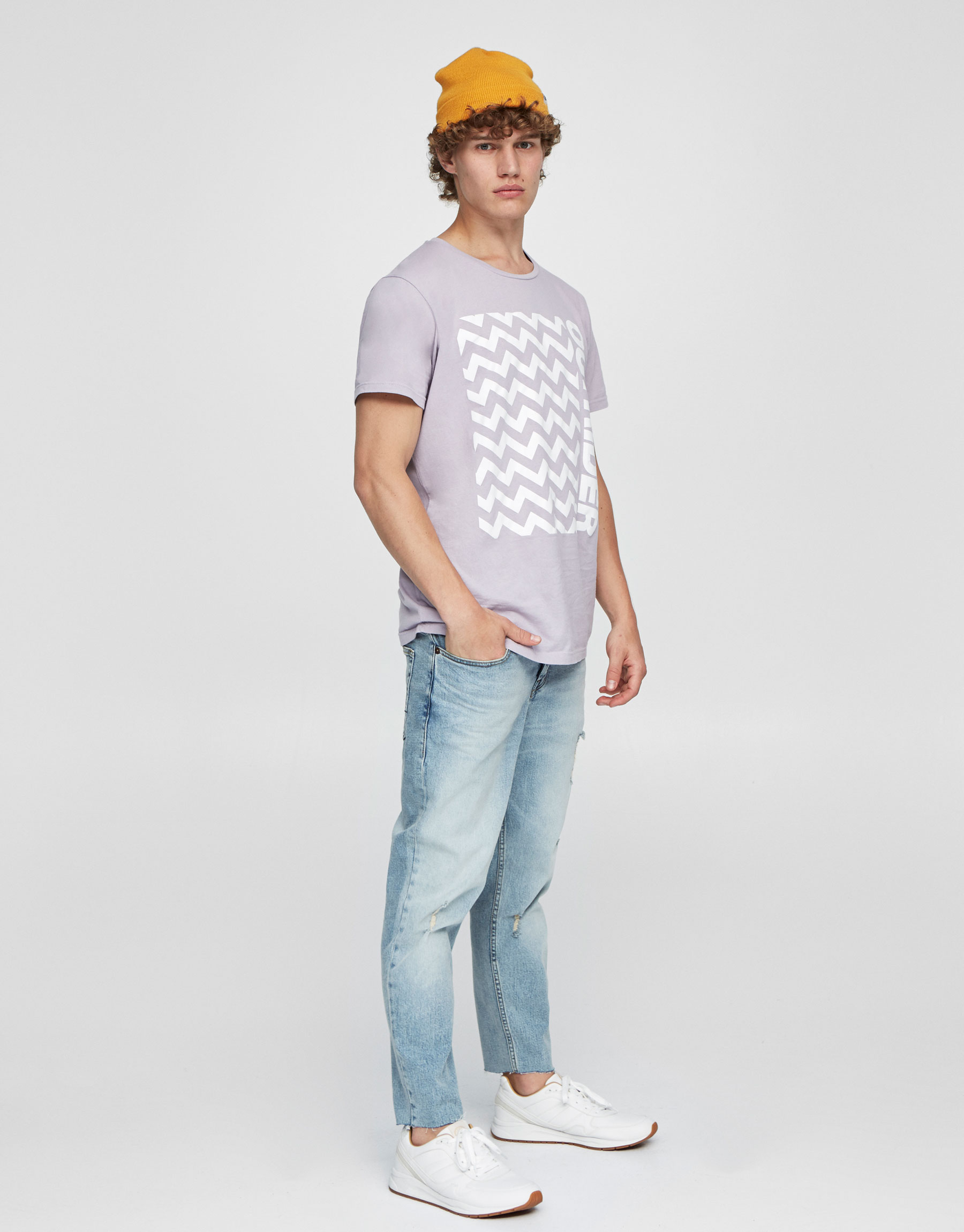 Pastel T-shirt with front print