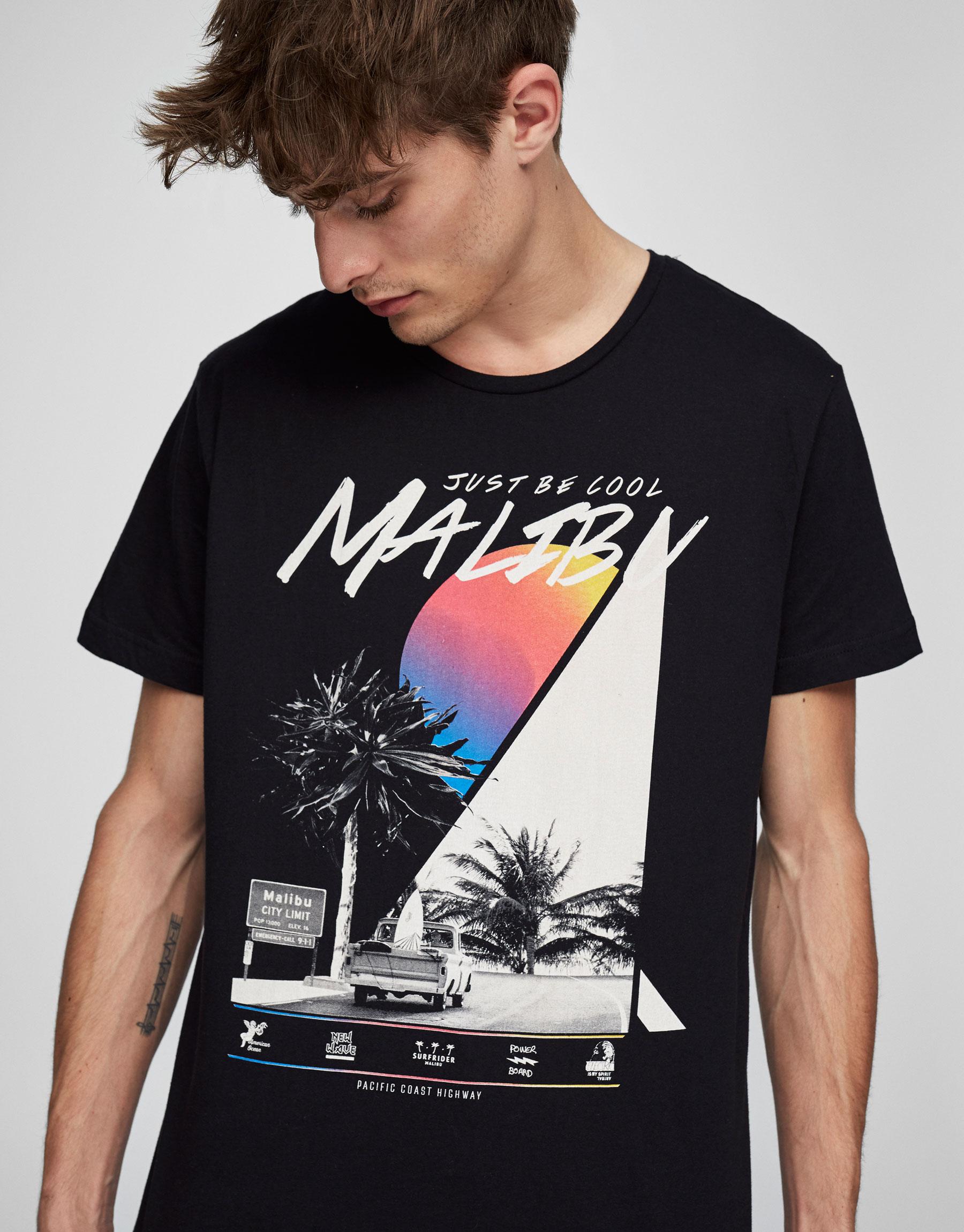 T-Shirt mit Print Malibu City