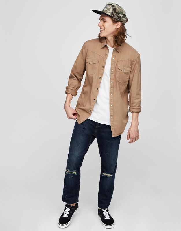 Denim cowboy shirt