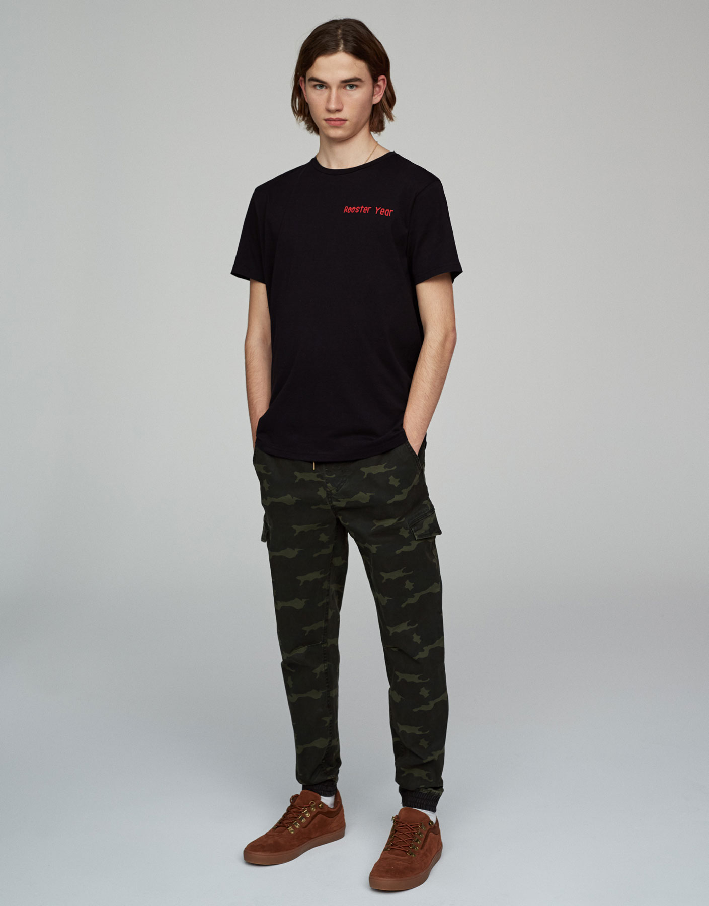 Camouflage beach trousers
