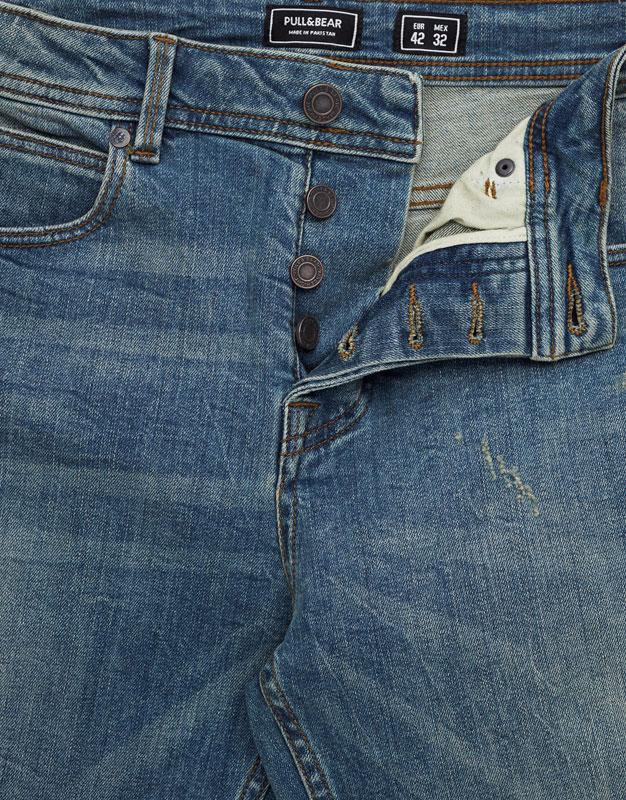 Slim fit premium ripped jeans
