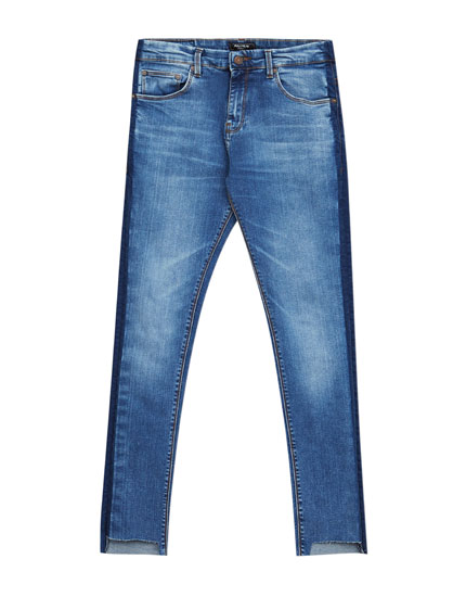 Faded skinny fit jeans