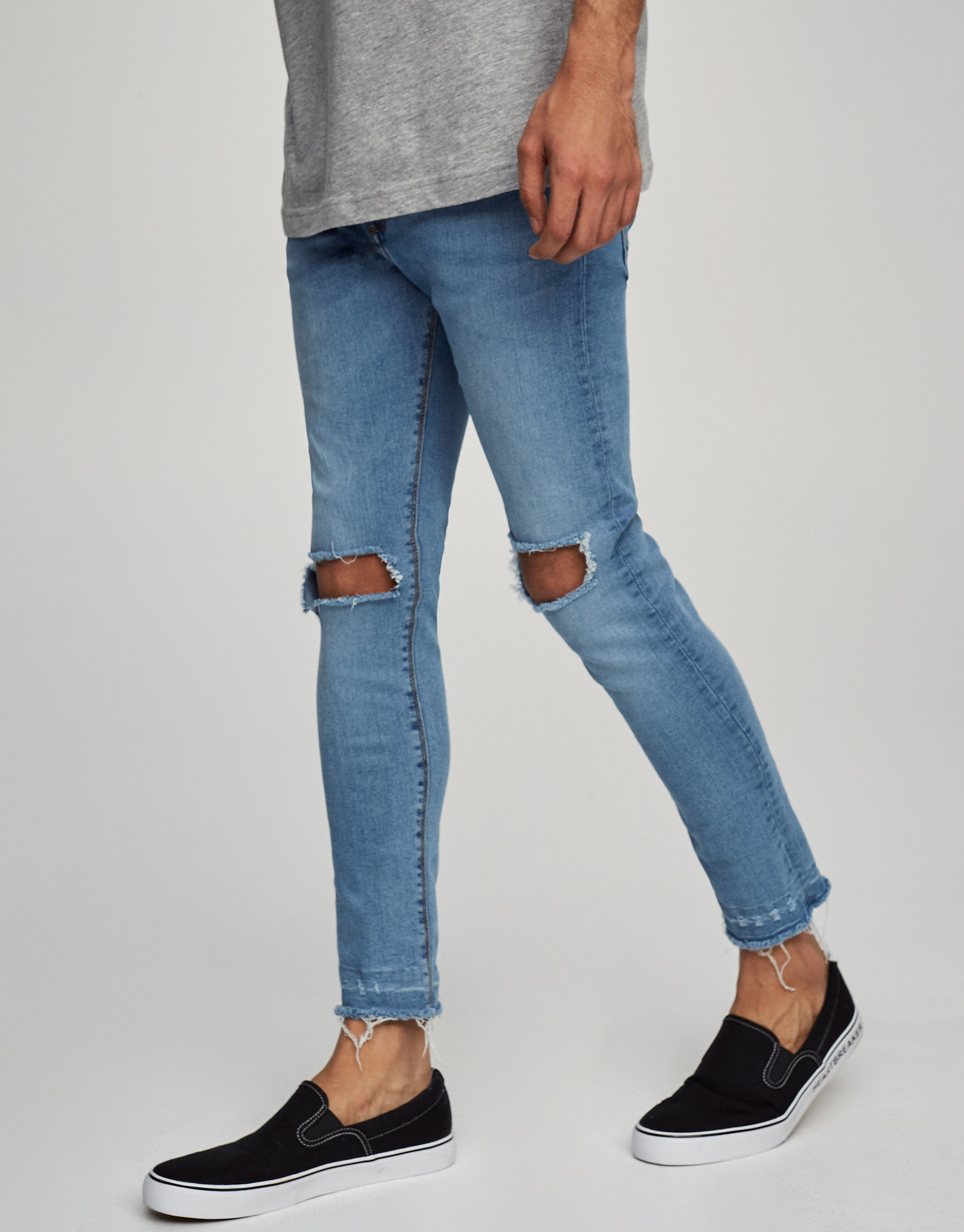 Super skinny fit ripped jeans