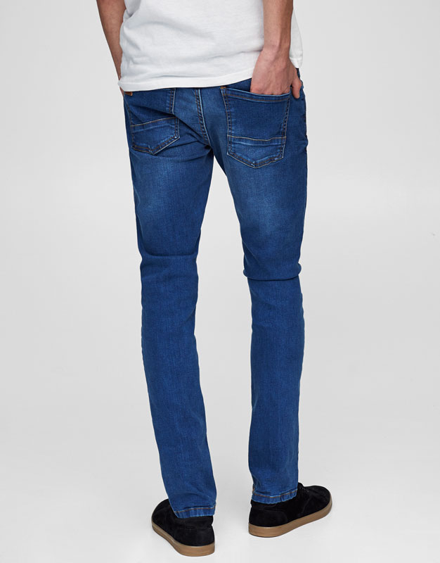 Skinny fit blue jeans (Marc Márquez Collection)