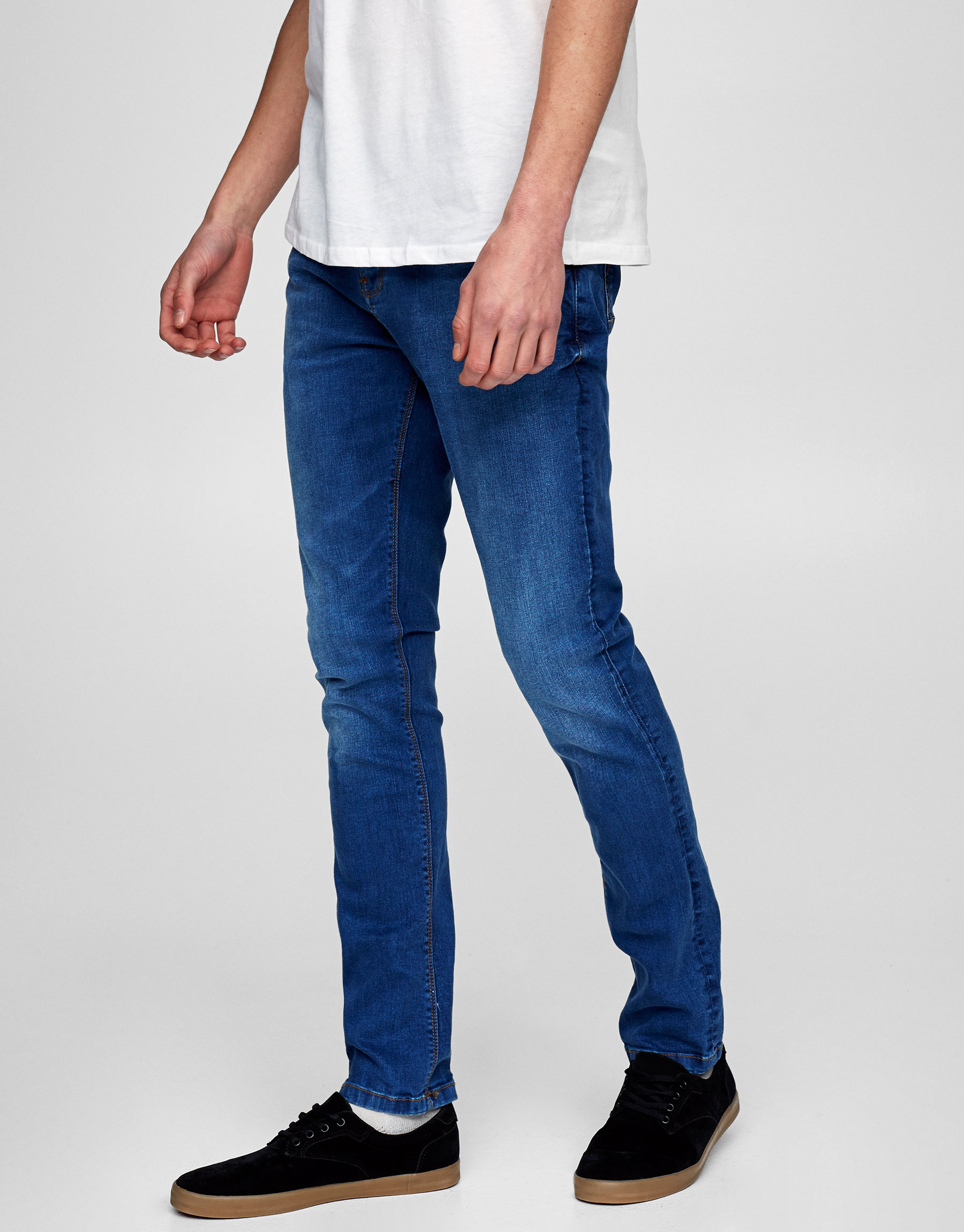 Blaue Skinny-Fit-Jeans (Marc Márquez Kollektion)