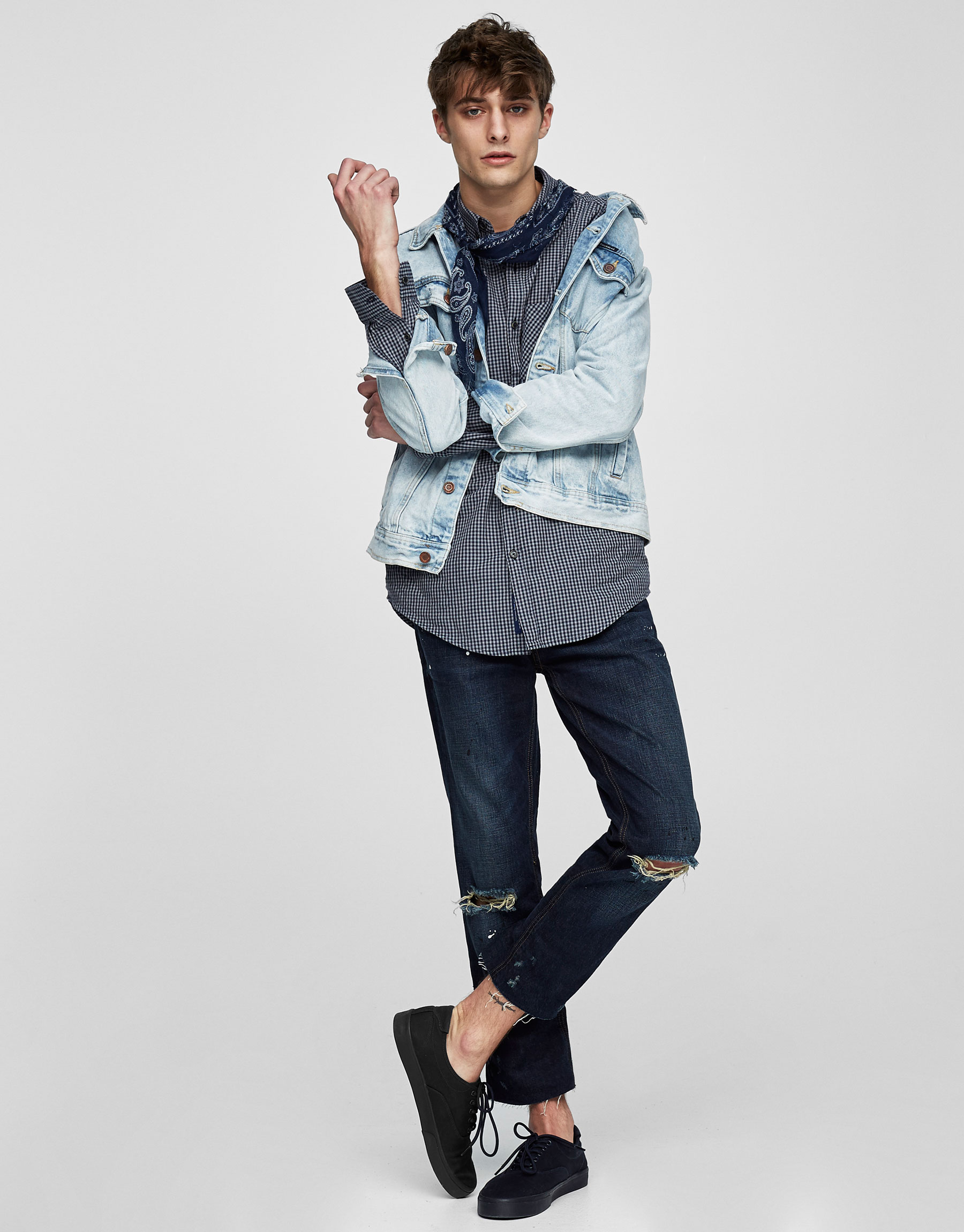Faded blue denim jacket