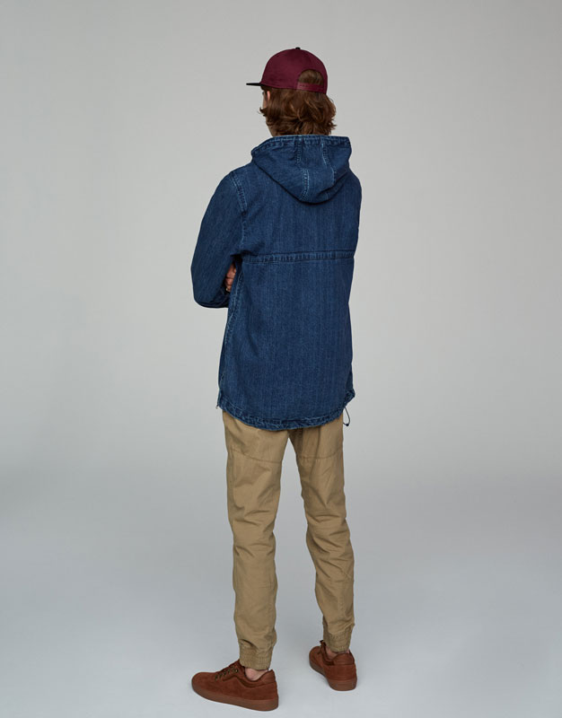 Pouch pocket denim jacket