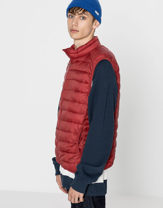 Nylon quilted waistcoat