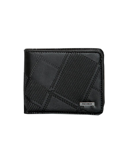 Embossed faux leather wallet