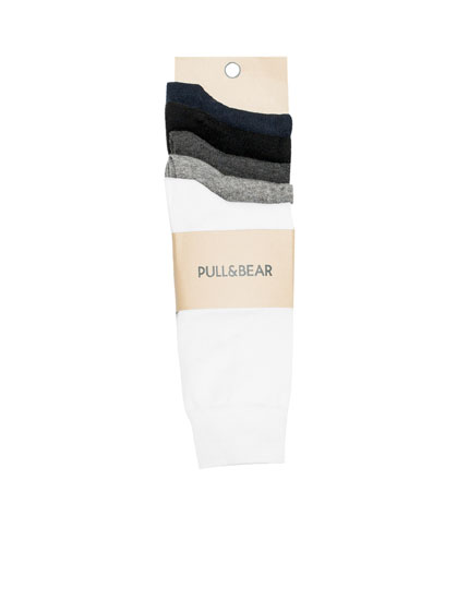 Basic long socks (5-pack)
