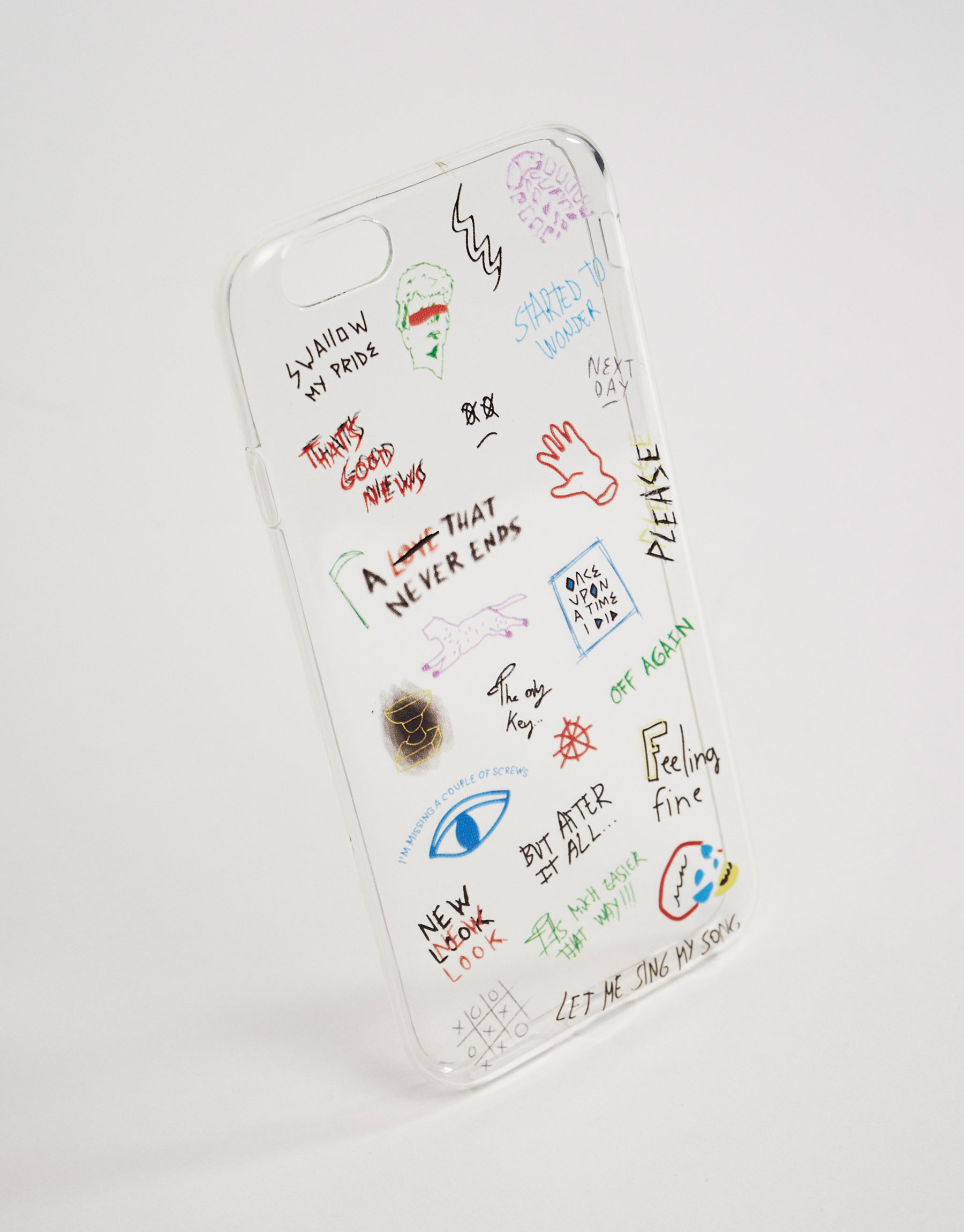 Mobile phone case with hand written print