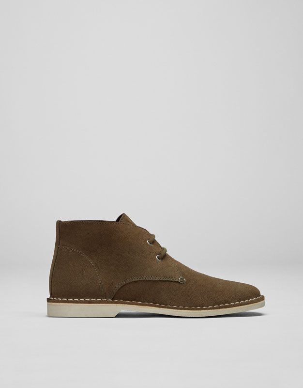 Desert boot croûte de cuir