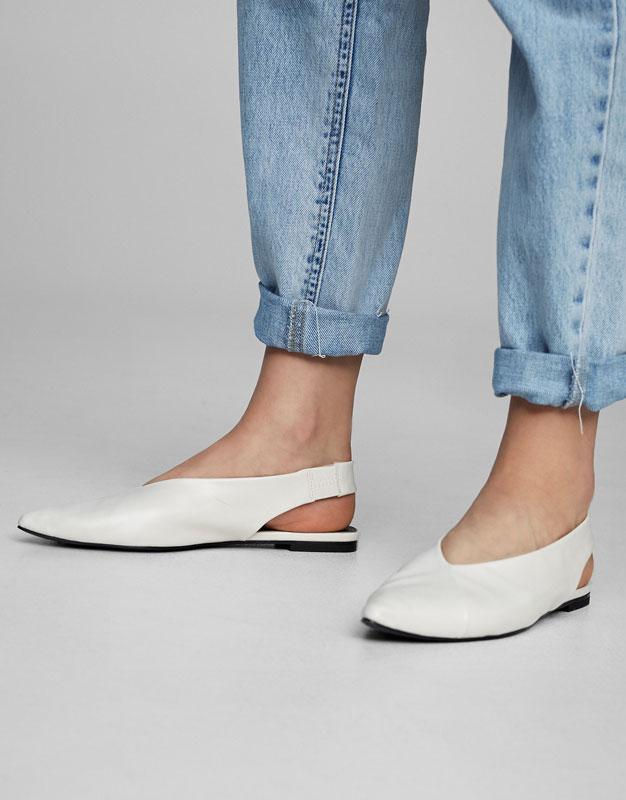 Spitze, fersenfreie Schuhe
