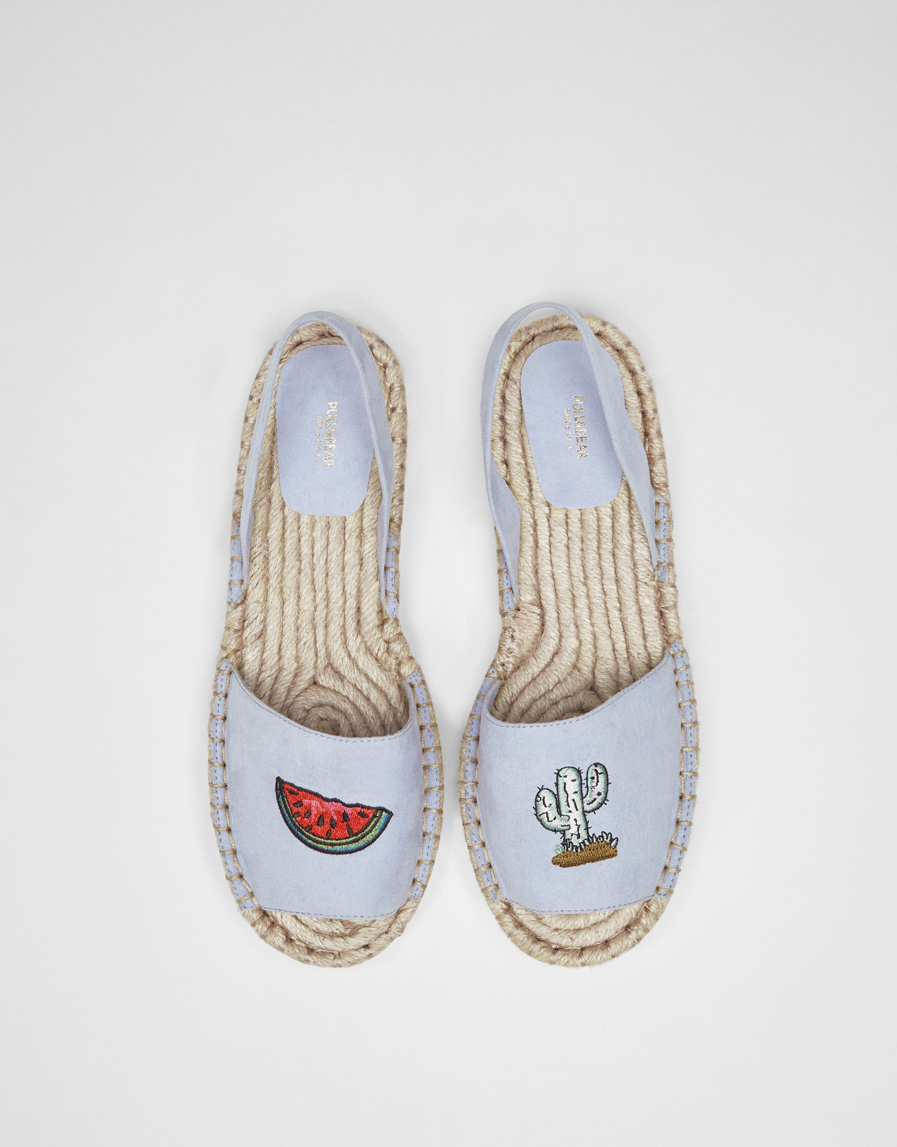 Slingback espadrilles with patches