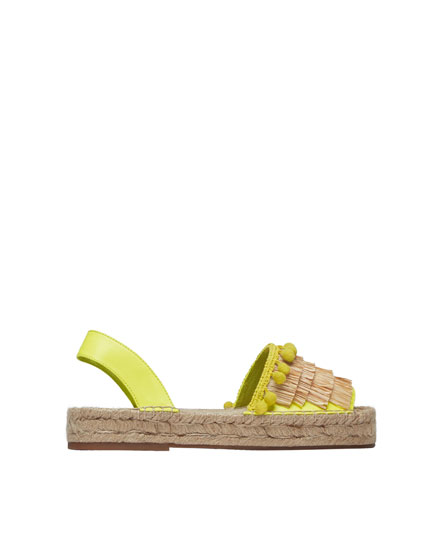 Neon fashion espadrilles with tassels