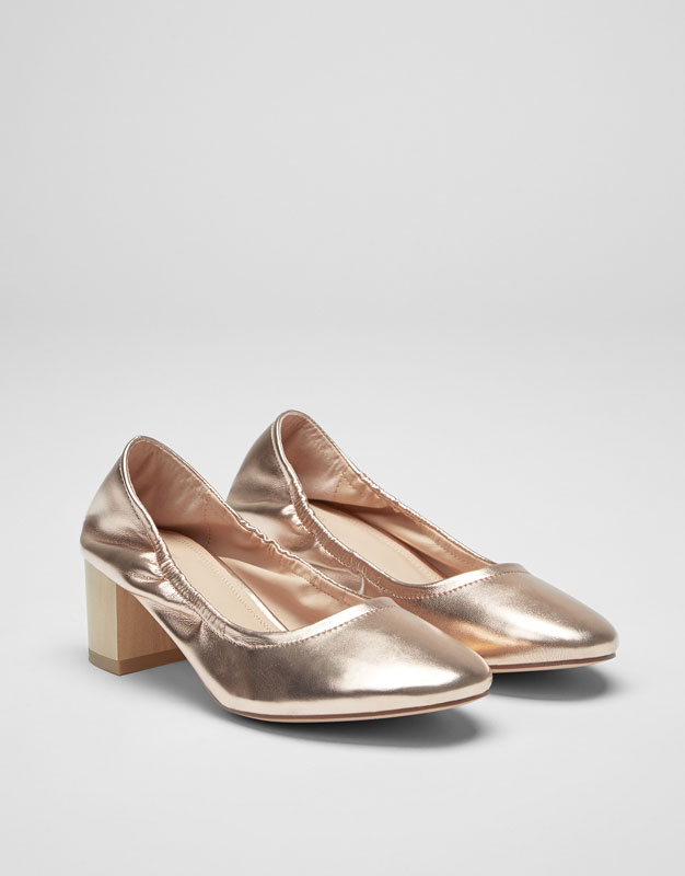 Laminated high heel shoes
