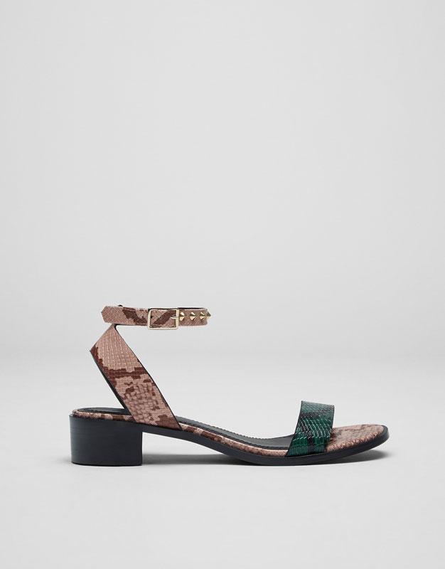 Sandale print snake