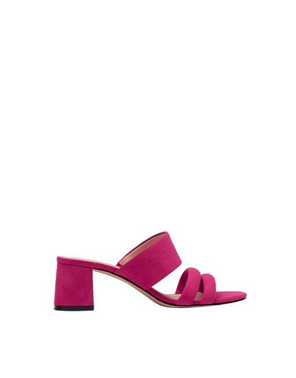 Sandalia noche rosa