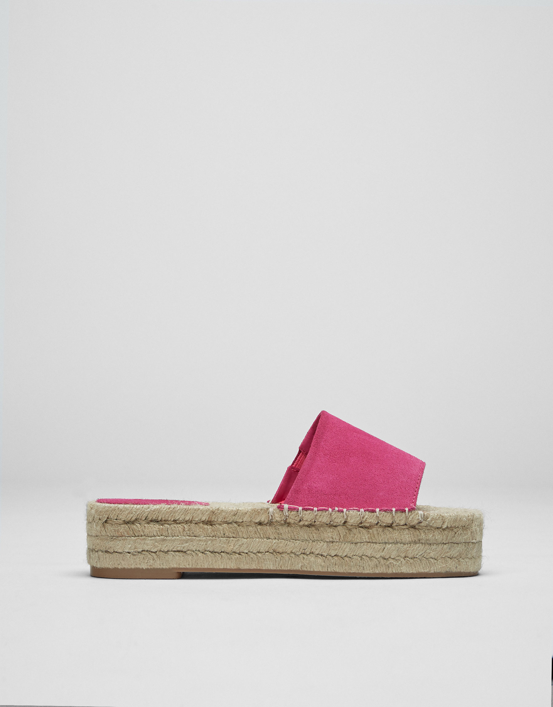 Sandália de juta colorida