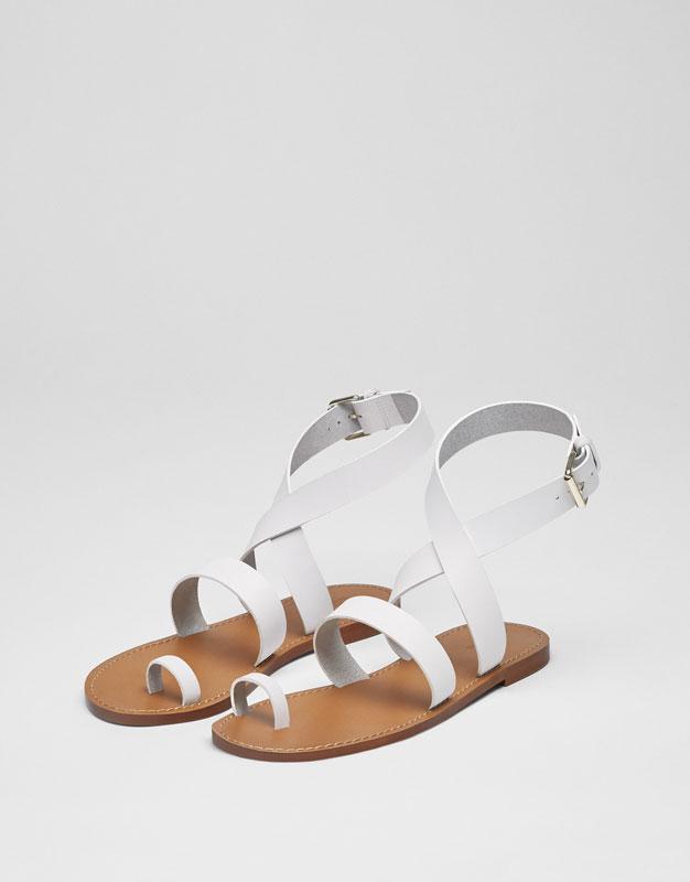 Sandale mit Lederriemchen