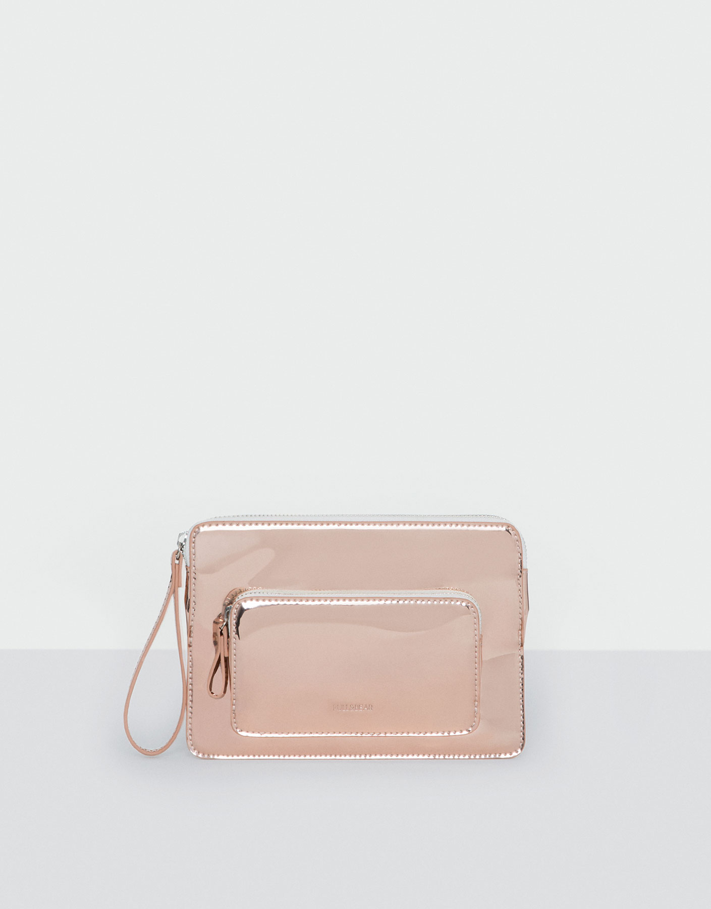 Pink metallic wallet