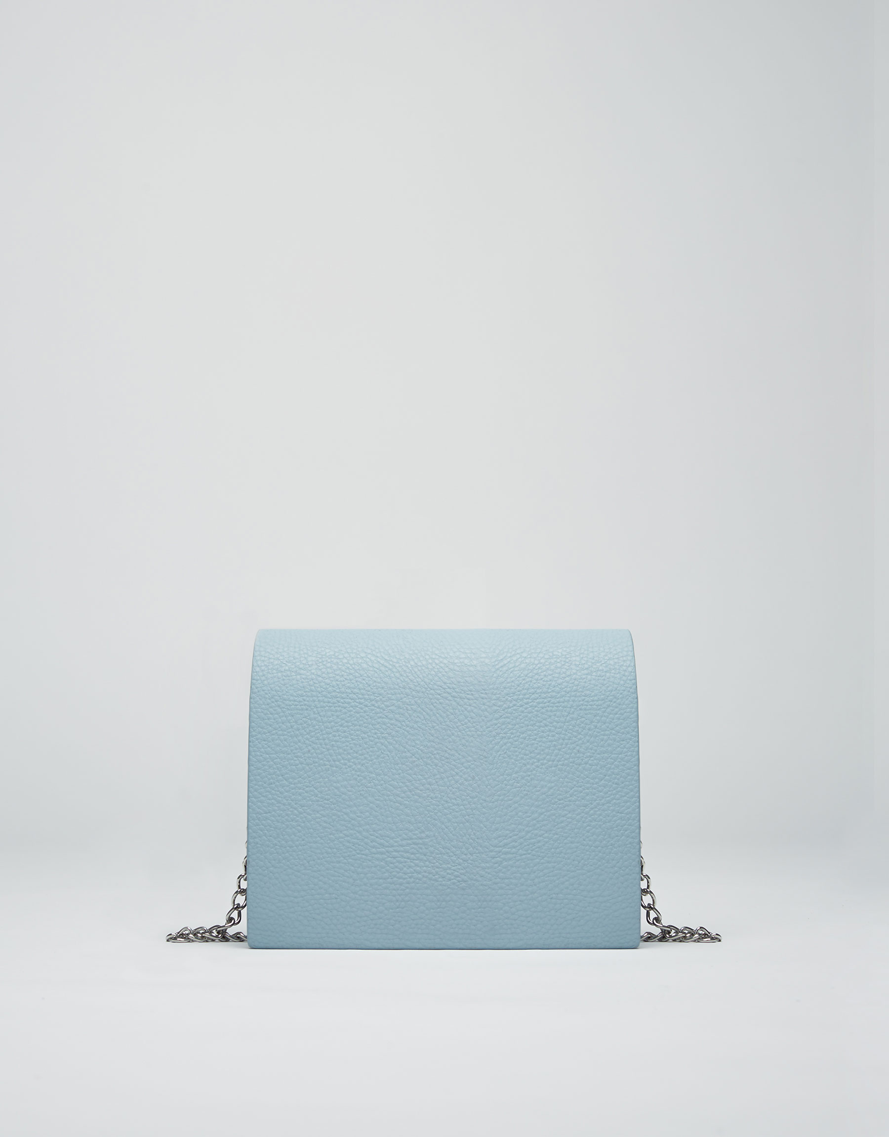Blue chain crossbody bag