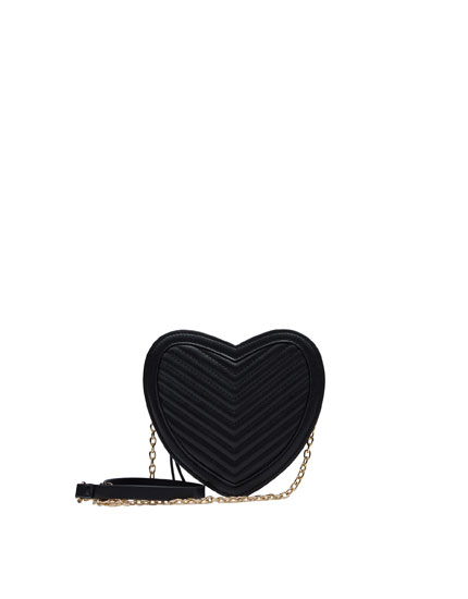 Mini-Umhängetasche mit Herz