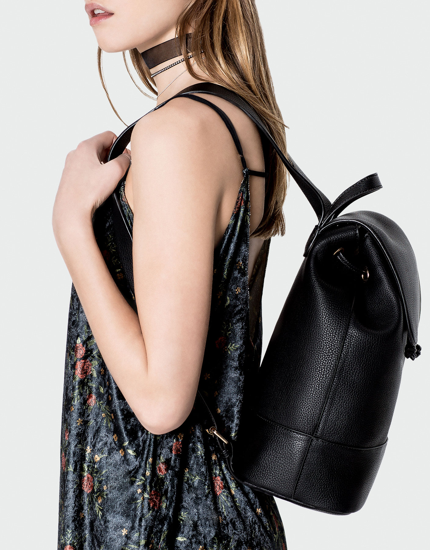 Basic black backpack